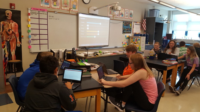 Reviewing Science for Test with Quizlet