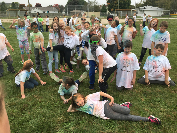 Mrs. Manning's class at the color run!
