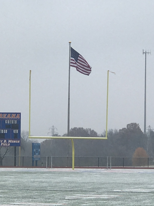 Flag over Munch Field