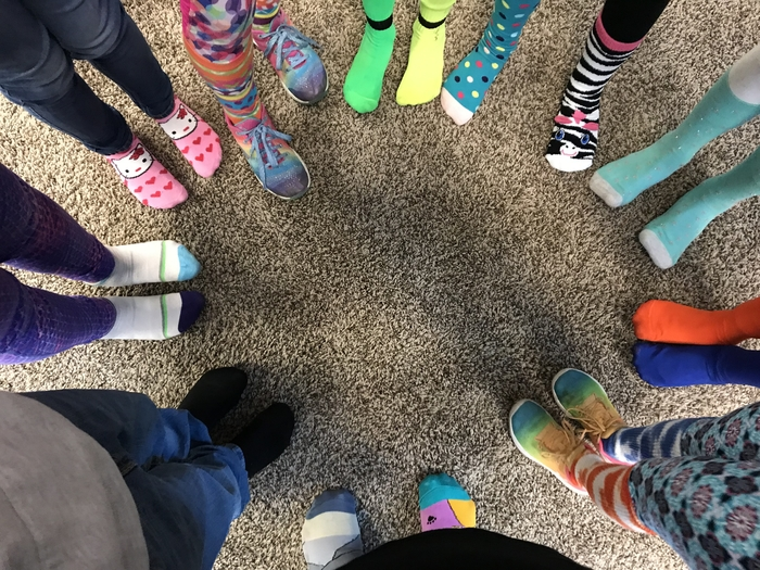 Rockin our Socks for World Down Syndrome Day