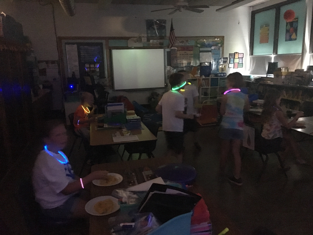Glow stations in action.